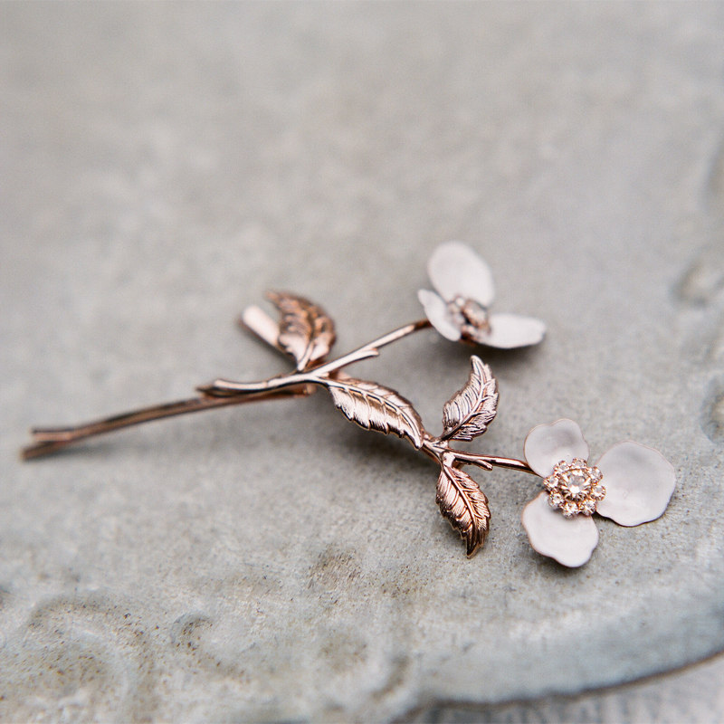 bridal hair pins, blossom hair pins, wedding accessories, hair jewelry