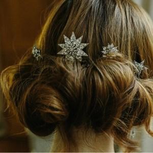 star, bridal hair pins, hair accessory, crystal, wedding accessories, tiara
