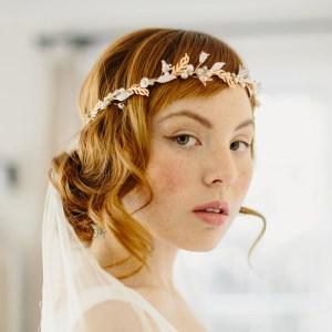 Be Mine rose gold flower crown