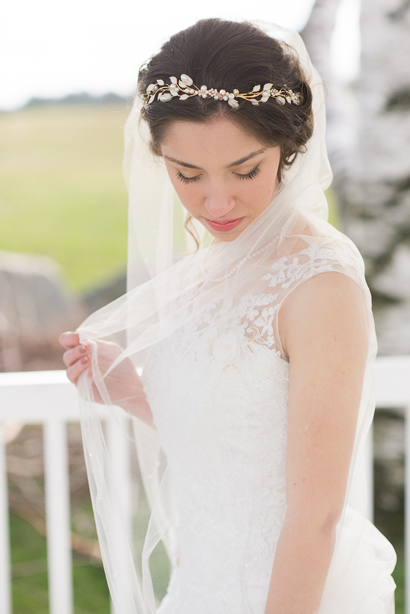 lily wedding circlet
