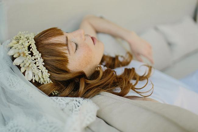 Remembrance wax bridal crown