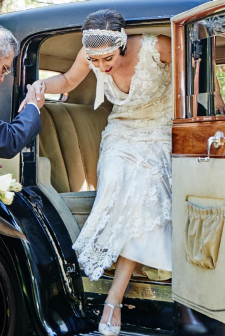 1920s deco bridal cap