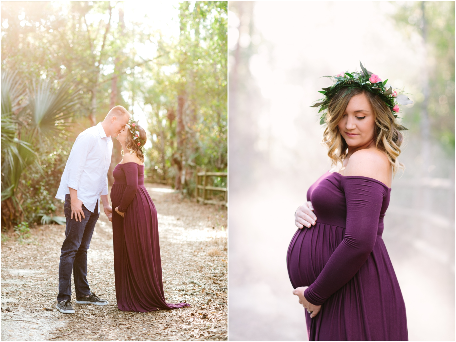 Rustic Flower Crown Maternity Session in Jupiter Florida 1462bf0a2ae
