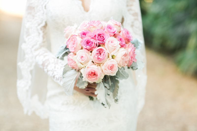 the walton house wedding pink bouquet