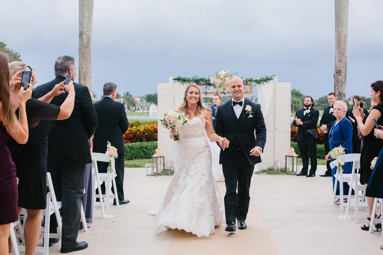 wedding ceremony at boca pointe country club