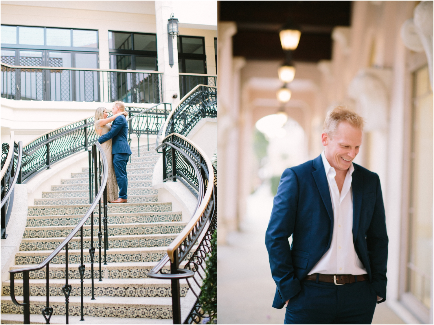worth avenue palm beach engagement photos