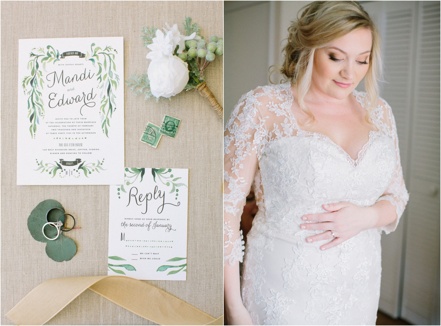 jupiter florida boho garden wedding