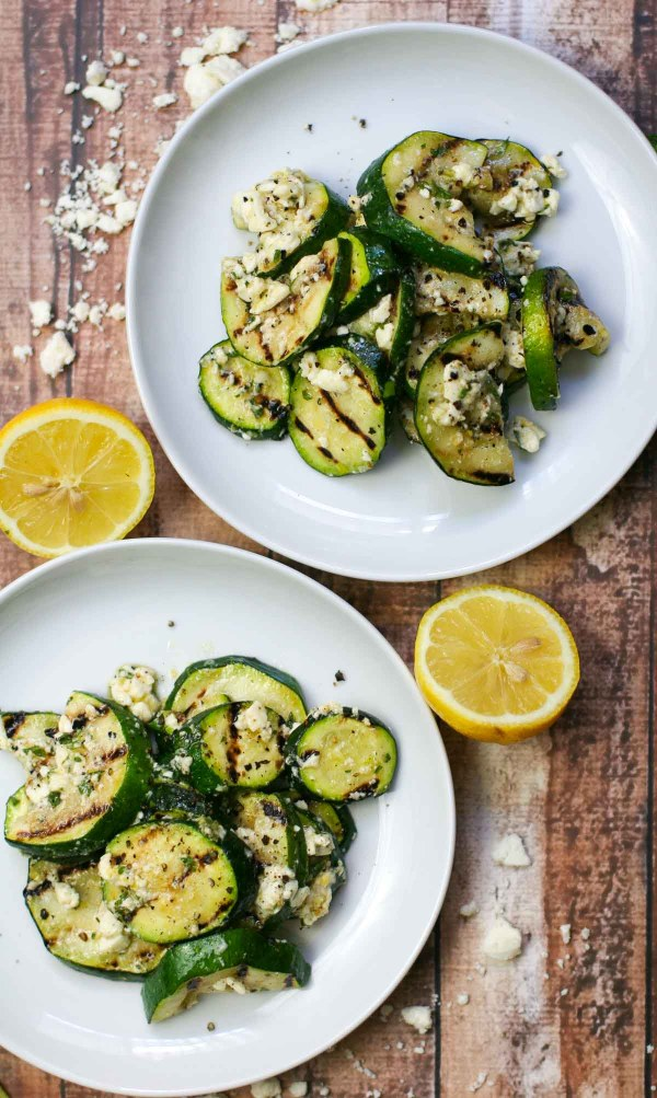 Grilled Zucchini with Mint, Lemon, and Feta   ericajulson.com