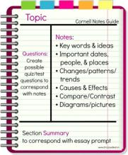 Cornell Notes Image