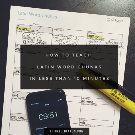 How To Teach Latin Word Chunks In Less Than 10 Minutes