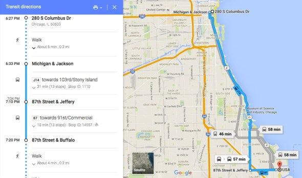 How to get to Calumet via Bus