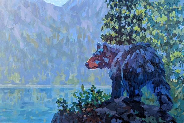 Neumann_Hazy_Lazy_Crazy_Days_of_Summer_40_60_bear_wildlife_art_web