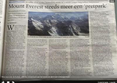 Mount Everest steeds meer een 'pretpark'