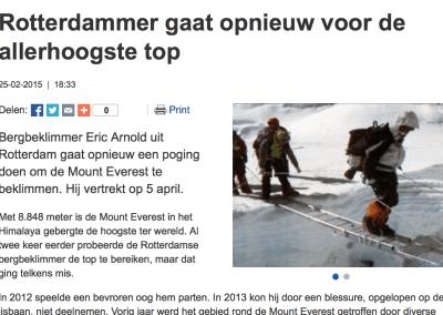 Rotterdammer gaat opnieuw voor de allerhoogste top