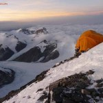 Camp 2 Everest-Tibet op 7600 mtr