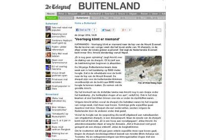 Telegraaf – 'Voorlopig klimt er niemand'