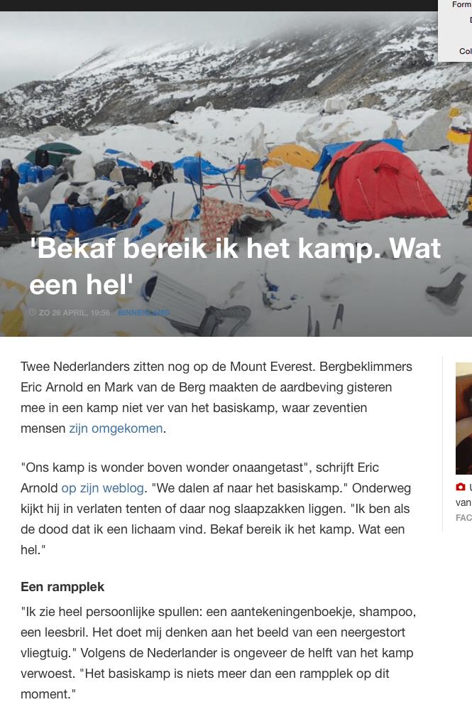 NOS – 'Bekaf bereik ik het kamp. Wat een hel'