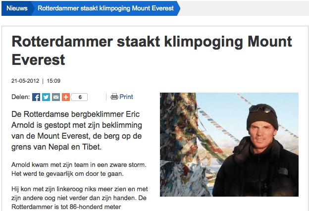 Interview Radio Rijnmond 21 mei 2012: Rotterdammer staakt toppoging.