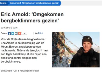 Interview RTV Rijnmond 22 mei: omgekomen klimmers gezien (audio / video)