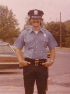 After the Army, Dad was an auxiliary policeman. Circa 1976.