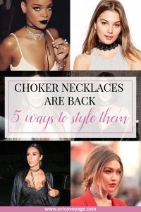 Choker necklaces trend are back: Whether your style is classy, punk, edgy, there's so many different ways to make this accessory work with your outfit.