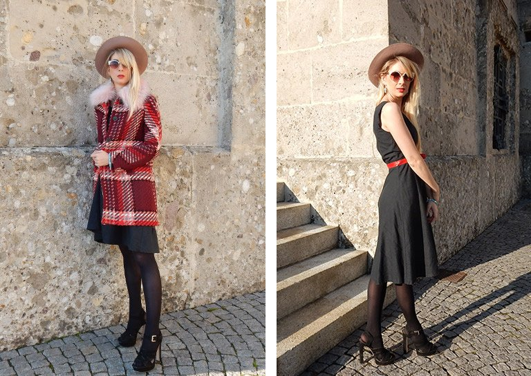 How to style a dress in winter? Just because it's cold outside, it doesn't mean you have to hide all of your dresses away until the temperature goes up.