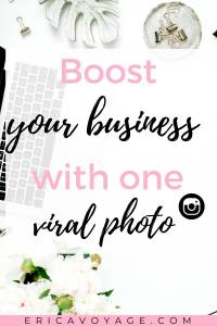 The more eyes on your content = more website traffic, an increase and in sales. Creating a photo that goes viral will put you in an advantage