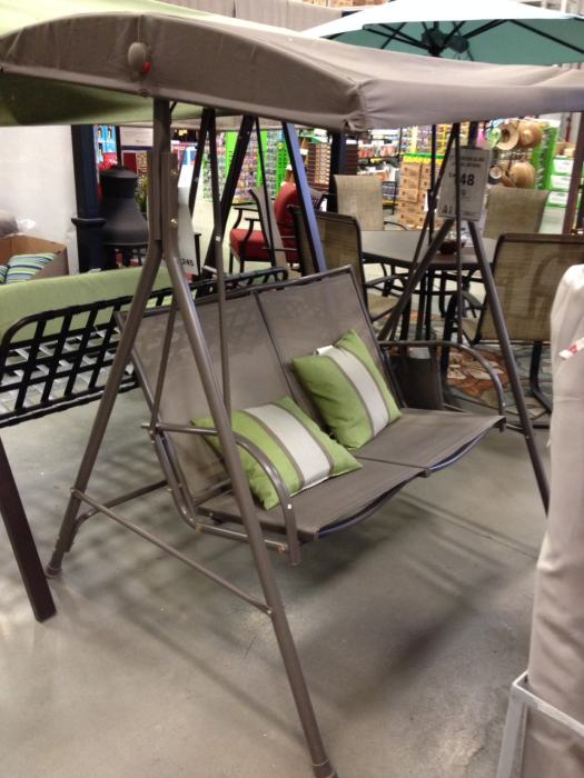 Porch Swing at Lowes