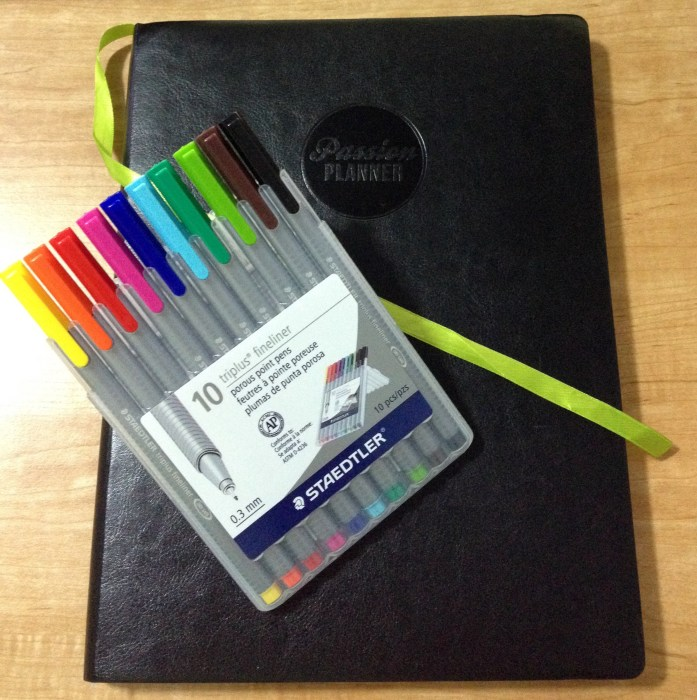 Passion Planner with Staedtler Pens