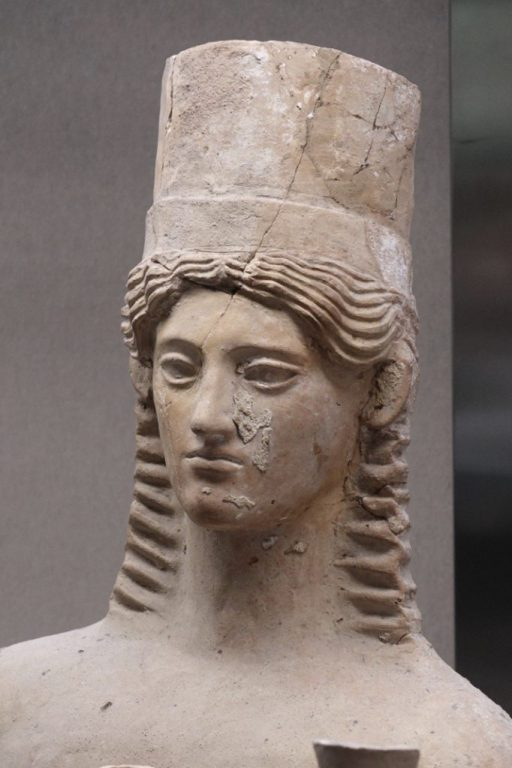 Buste van een vrouw, circa 400 BC - Sicilië