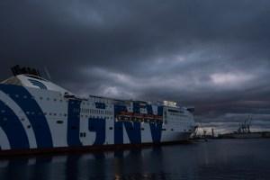 Veerboot 'La Superba' van Palermo naar genua