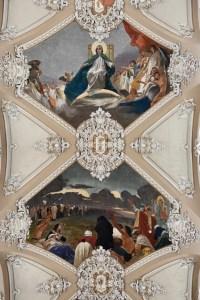Plafond van de Basilìca di Maria SS dell Elemosina - Catania
