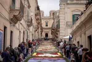 Bloemenfeest - festa dei fiori - in Noto, Sicilië