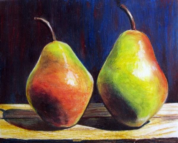Oil Pastels Pears