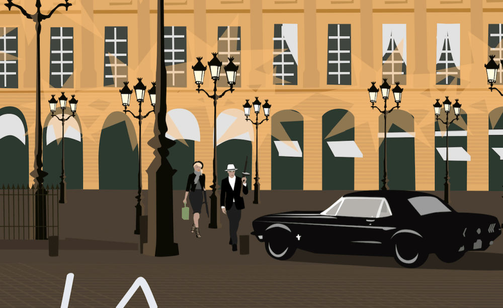 Place Vendome Paris Artwork Bonnie & Clyde Ford Mustang Sneaky peak