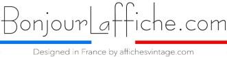 Galerie art en ligne bonjour l'affiche poster cote d'azur france Garence Eric