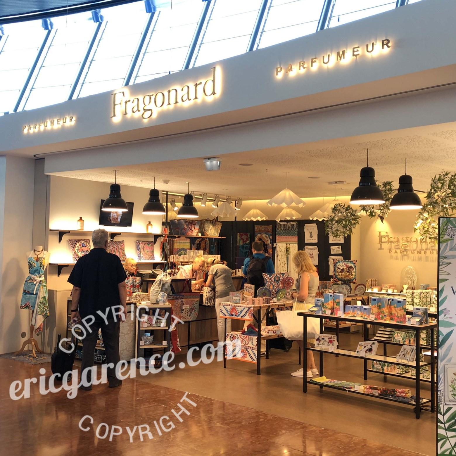Aéroport Fragonard Eric Garence Cote d'azur French Riviera Collection Parfum Cadeau Eau