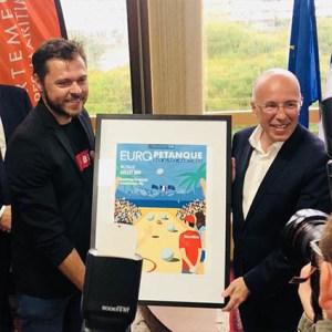 Europétanque, Nice Matin, Affiche Eric Garence 18eme édition Conseil Départemental Alpes Maritimes Pastorino Ciotti Ginesy Nardelli