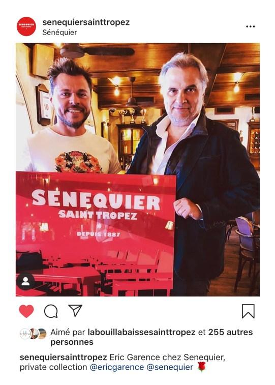 Senequier Eric Garence Affiche Saint Tropez Port Rouge Karl Peradotto Tableau