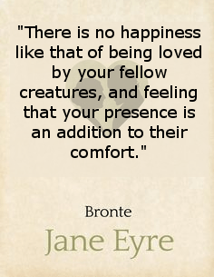 Literary quotes, Jane Eyre, Happiness, Charlotte Brontë