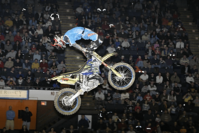 Freestyle Motocross at Cumberland County Civic Center in Portland Maine, by Eric Holsinger