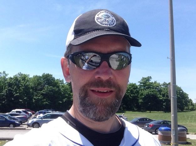 In my 2014 softball uniform