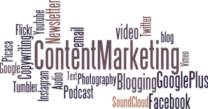 content marketing, journalism, sales,  promotions, advertising, B2B, B2C