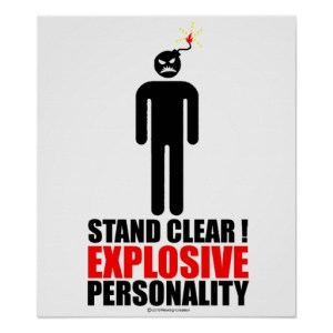 explosive personality, workplace, anger, quick-tempered