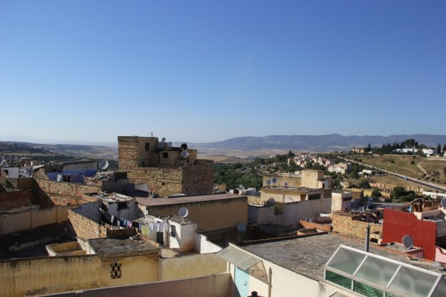 View from the roof of the language center where I'm studying. You can see part of the gorgeous plateau in which Meknes is nestled; the climate and environment is really, really pleasant—it's been cooler than it was in Southern California lately, but completely sunny.