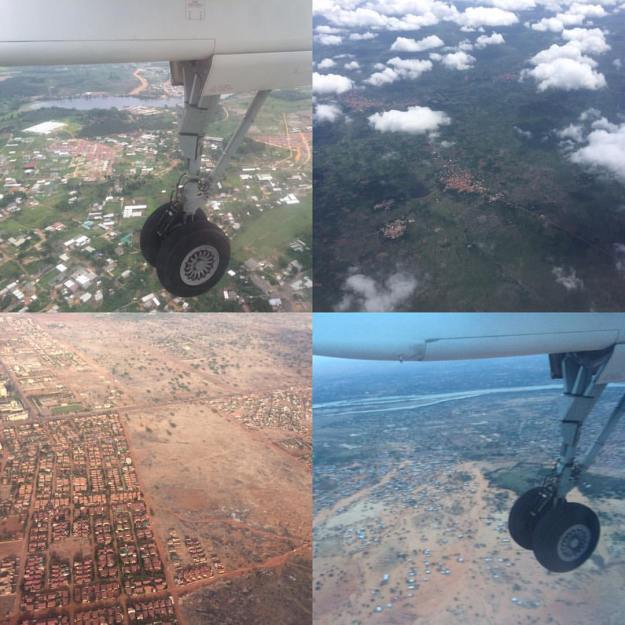 I flew a nice little tour of West Africa to get back from Bamako to Niamey, hitting a total of five countries in one day. Pretty remarkable to see the differences. L-R, top to bottom: Abidjan, Côte d'Ivoire; Lomé, Togo; Ouagadougou, Burkina Faso; and Niamey, Niger.