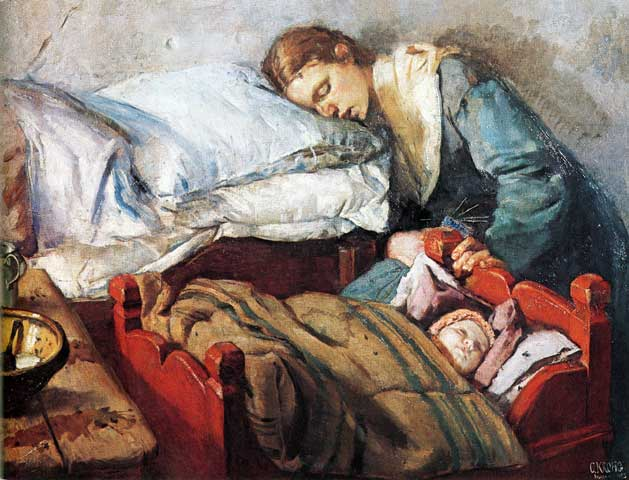 "Norwegian Christian Krohg's ""Sleeping Mother with Child,"" c. 1883"