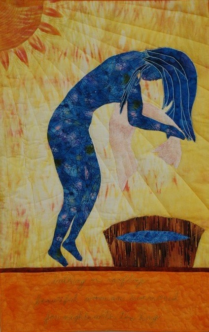 """Bath-Sheba"" by quilt artist Dolores Fegan. See more of her Women of the Bible quilts here."