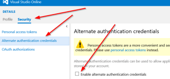 Alternate Authentication Credentials