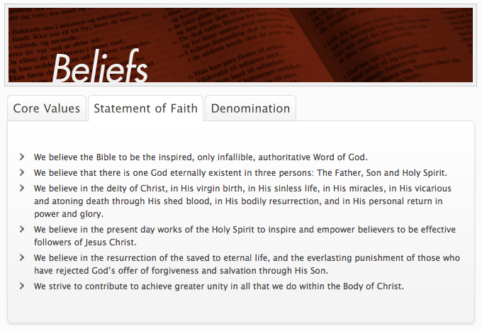 1. Doctrinal Foundations: Ashamed of the Gospel? Teen Mania says: